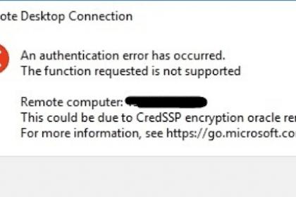 Cara Mengatasi RDP Tidak Bisa Login Error CredSSP