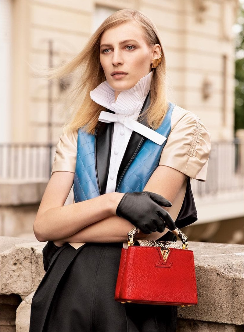 Louis Vuitton Capucines Fall/Winter 2019 Campaign featuring Julia Nobis