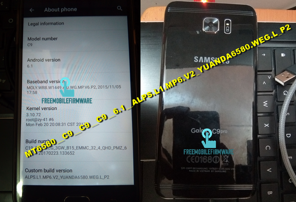 How To Flash Samsung Galaxy C9 Pro Clone MT6580__C9__C9__C9__6 1__