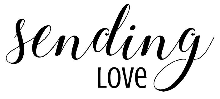 sending love free card sentiment