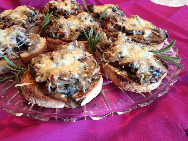 Mushroom Crostini with Sherry & Rosemary