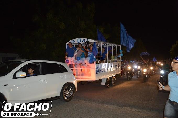 Eleitores de Clorisa comemoram resultado da pesquisa com buzinaço pelas ruas de Grossos