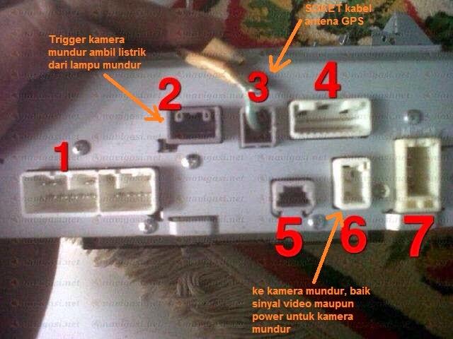 Share wiring kabel kamera mundur Head Unit ex Fortuner