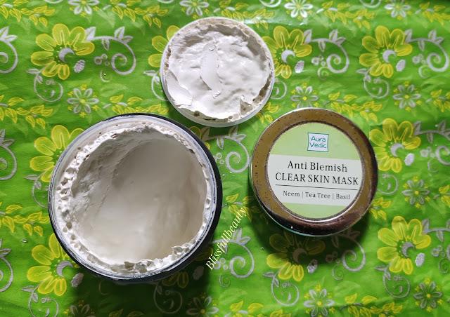 Auravedic Anti-blemish Face mask (Neem, tea tree , Basil) Review