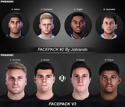 PES 2021 FacePack V2 & V3 by Jobrando