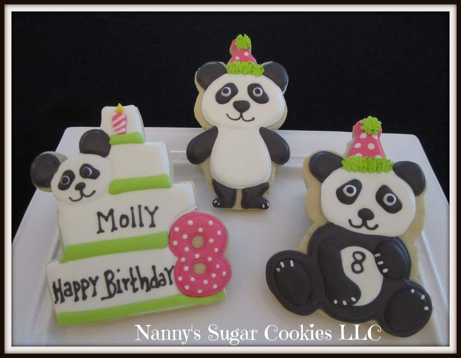 Superb Nannys Sugar Cookies Llc Birthday Cake Panda Bears Funny Birthday Cards Online Inifofree Goldxyz