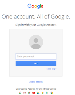 how to sign in at Gmail / Blogger