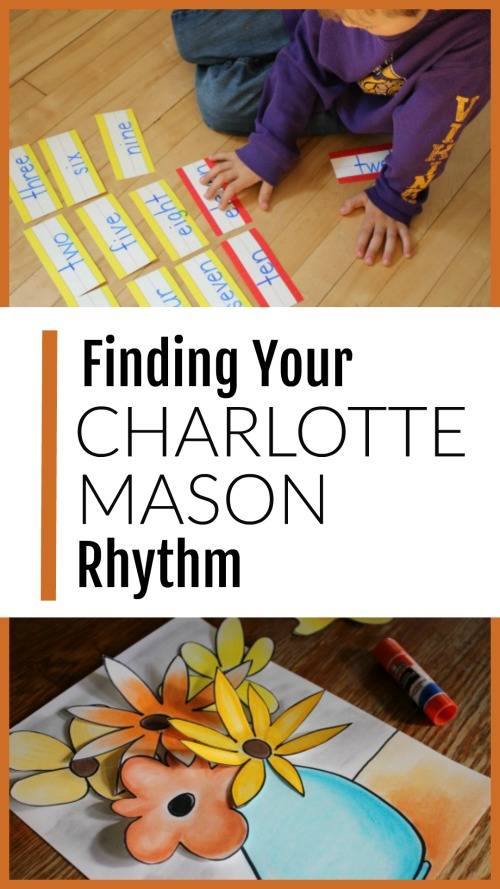 Finding Your Charlotte Mason Rhythm #charlottemason #homeschooling #hyggeschooling #delightdirected