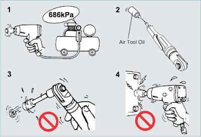 cara menggunakan impact wrench