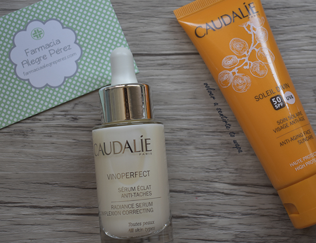 Caudalie Vinoperfect: Serum Antimanchas y Protector Facial Antiedad
