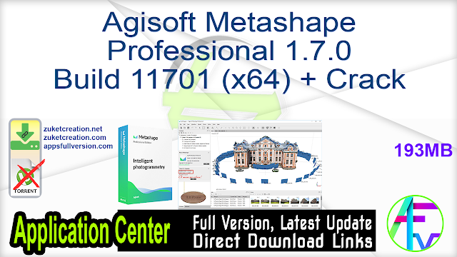 Agisoft Metashape Professional 1.7.0 Build 11701 (x64) + Crack