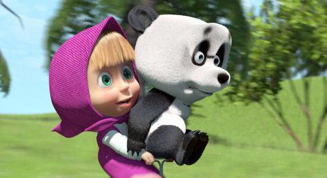 صور مضحكة ماشا و الدب للاطفال
