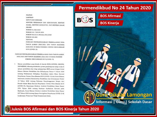 Juknis BOS Afirmasi dan BOS Kinerja Tahun 2020
