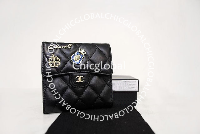 c4c4125c82623f HOSHI AME HARIKO: Chanel Classic Quilted Flap Short Wallet Black 37238
