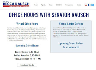 Senator Rausch to host virtual office hours in October and November