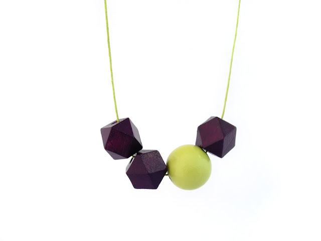 hexagon bead necklace