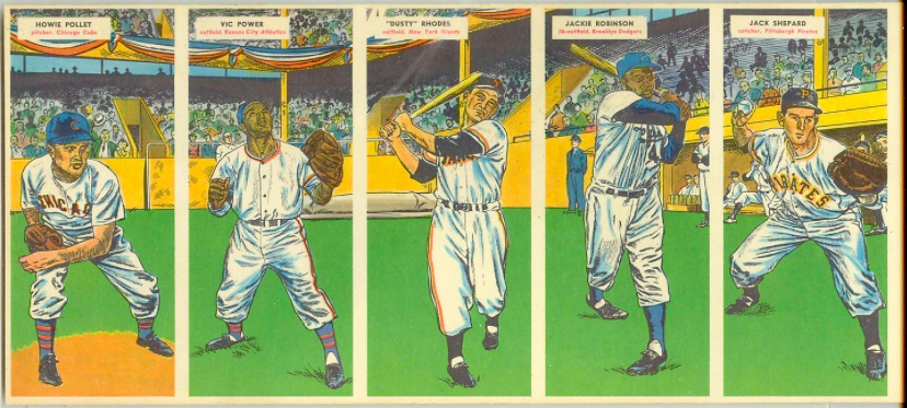 1955 Topps Baseball Double Headers 5 Ted Kazanski