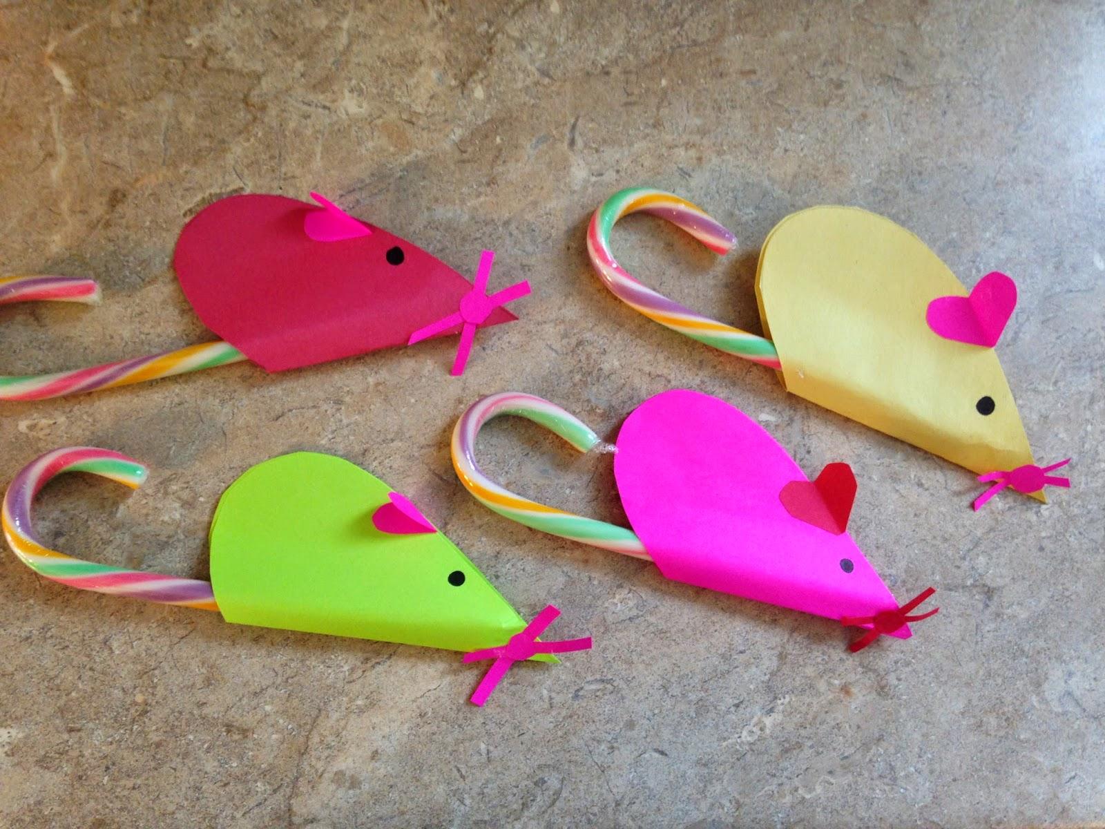 Felt Candy Cane Mouse Christmas Craft