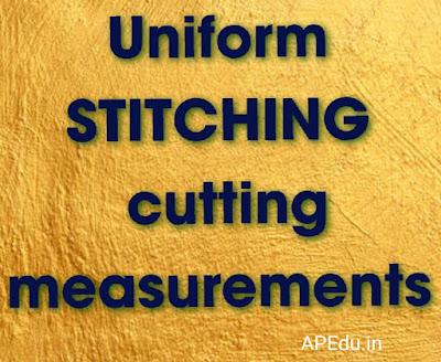 Uniform STITCHING  cutting  measurements