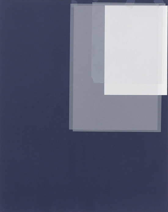 Kees Goudzwaard Working Materials, 2019 acrylic on cardboard 50 x 40 cm