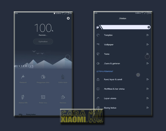 Download MIUI Themes VeiledGirls Dark Mtz For Smartphone Xiaomi