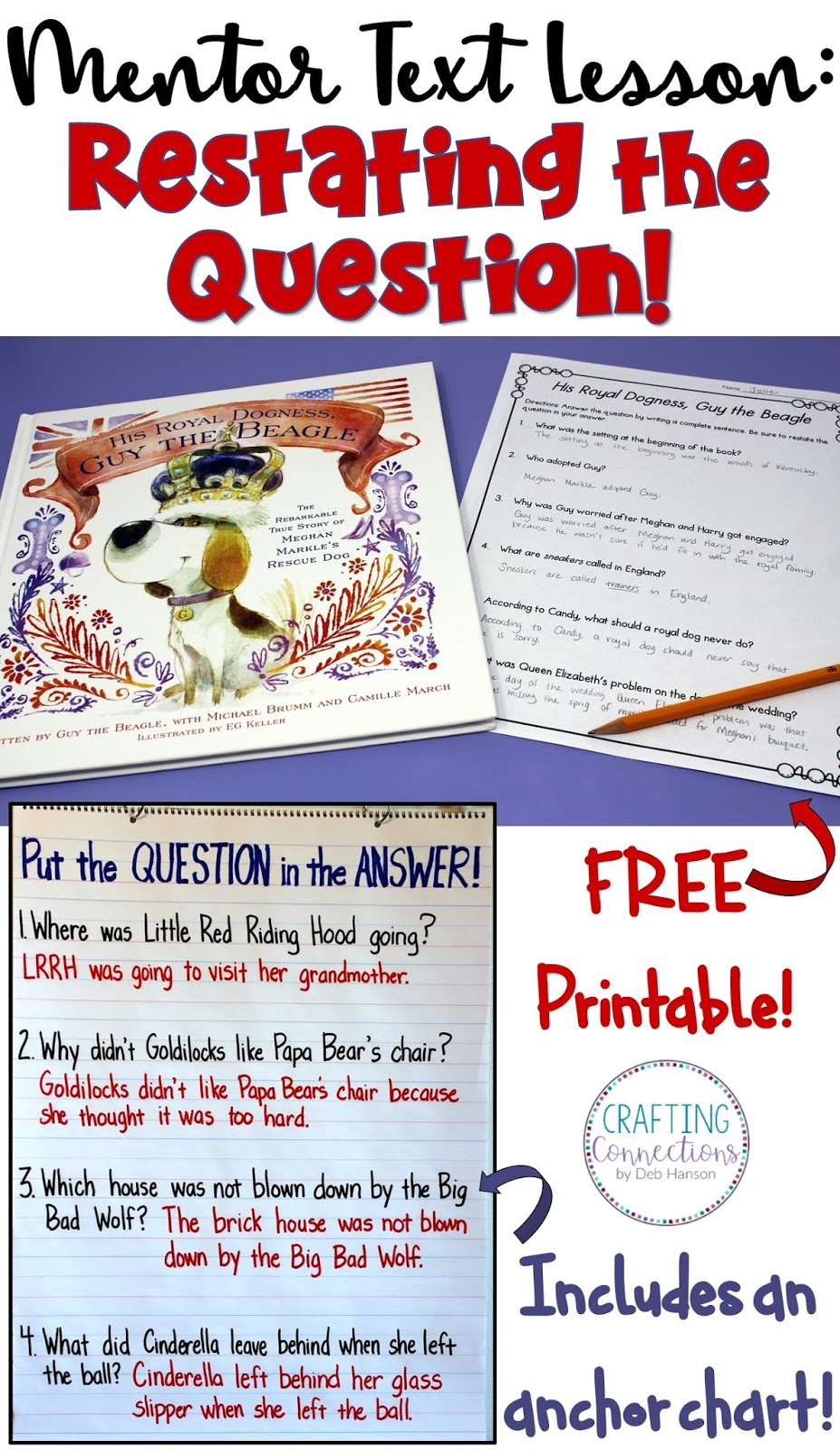 medium resolution of Restating the Question in the Answer (Freebie included!)   Crafting  Connections