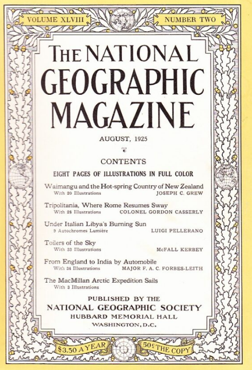 National Geographic August 1925