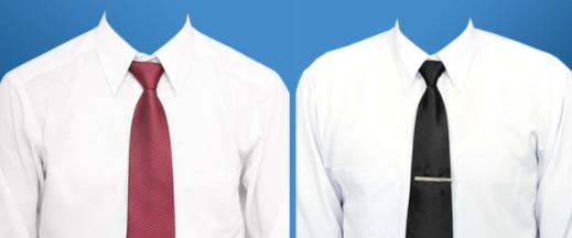 Download Template Kemeja Putih Pria Transparan PSD dan PNG HD