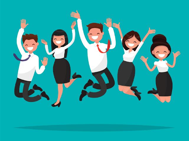 Trabajadores y Empresarios felices | Charkleons.com
