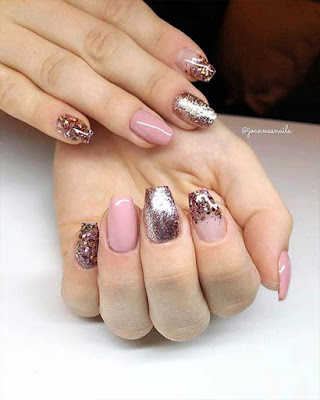 short coffin nails design elegant