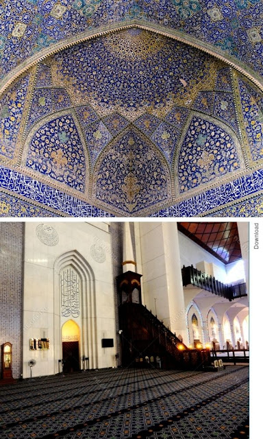 kubah dan mimbar Masjid Sultan Salahuddin Abdul Aziz Shah