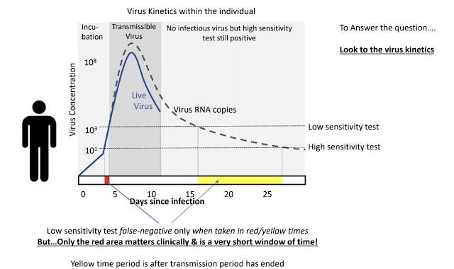 Kurva konsentrasi virus Covid-19 selama inkubasi, masa menular, masa penyembuhan, harian, mingguan, bulanan