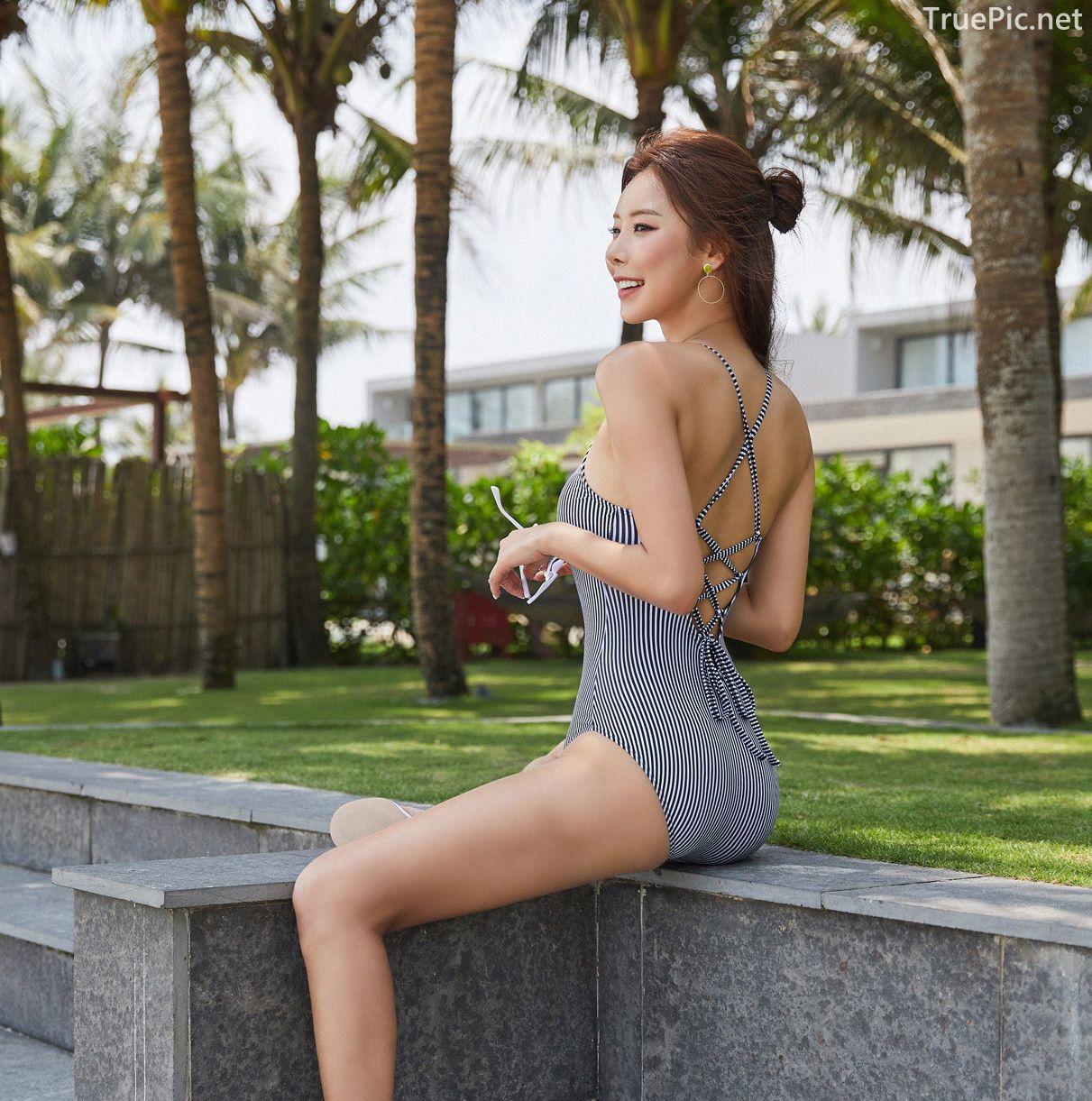 Korean model and fashion - Park Da Hyun - Hightension Swimsuit Set - Picture 6