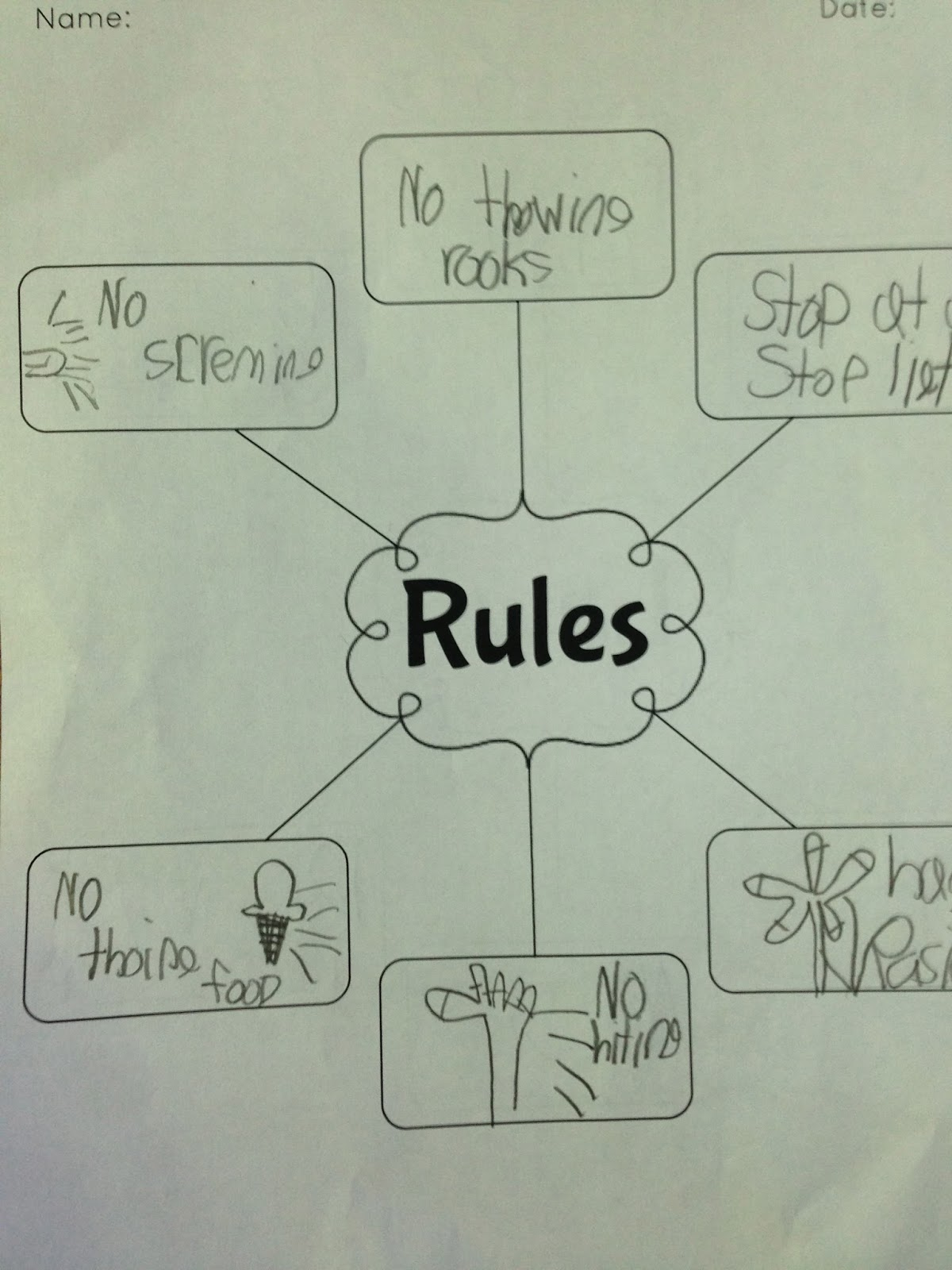 Following Rules At School Worksheet