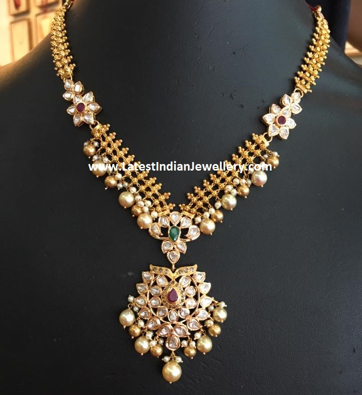 Simple Gold Necklace from Bhavani