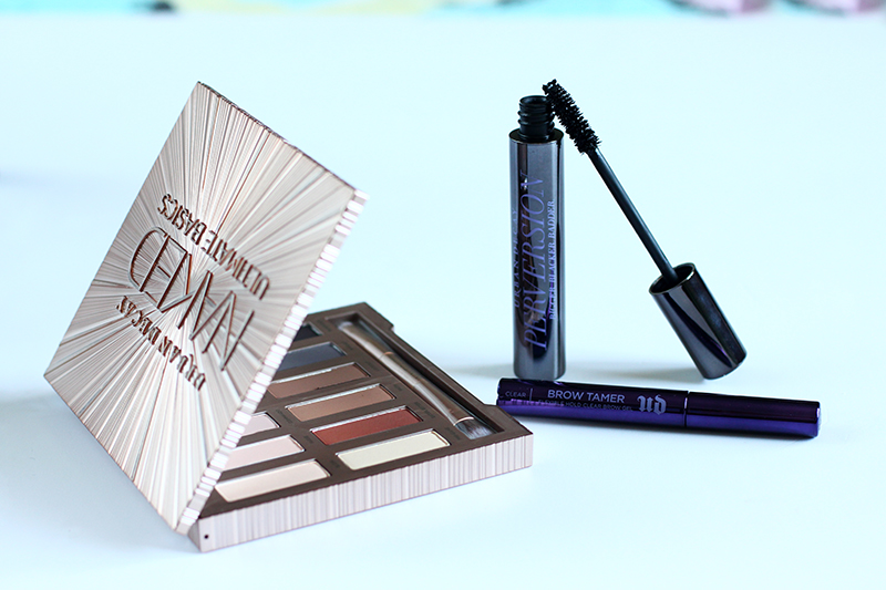review of urban decay naked ultimate basics perversion mascara brow tamer