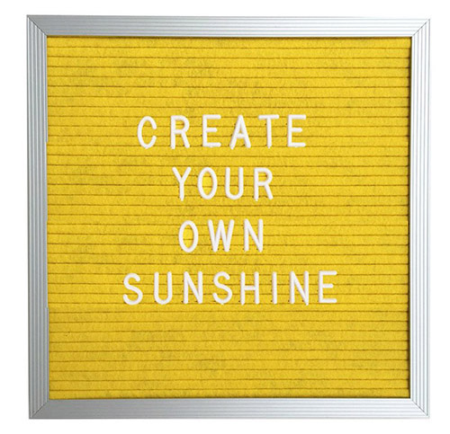 Create Your Own Sunshine Letter Board from Three Potato Four