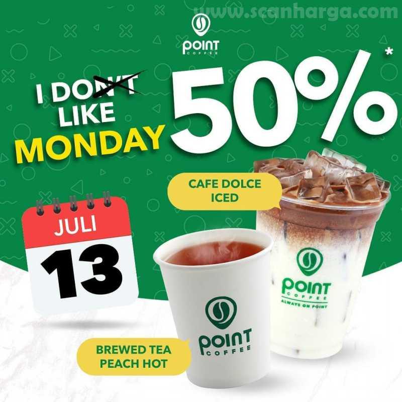 Point Coffee Promo I Like Monday Tiap Senin Diskon 50% Periode13 Juli 2020