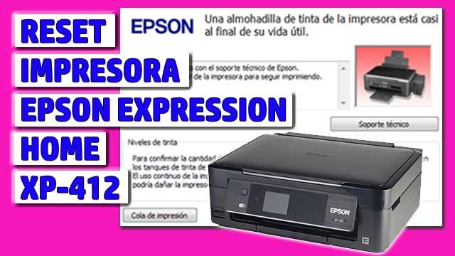 Reset impresora EPSON Expression Home XP-412
