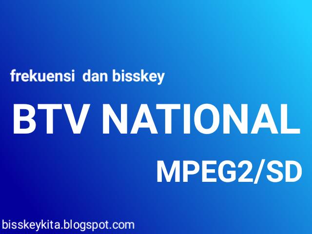 Frekuensi dan Bisskey BTV National di Asiasat 7