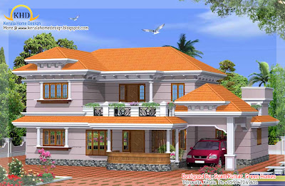 Duplex house elevation - 225 square meters (2425 Sq. Ft.) - January 2012