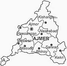 ajmer map in hindi