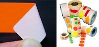 Aufkleber in Leuchtfarben mit ablösbarem Klebstoff