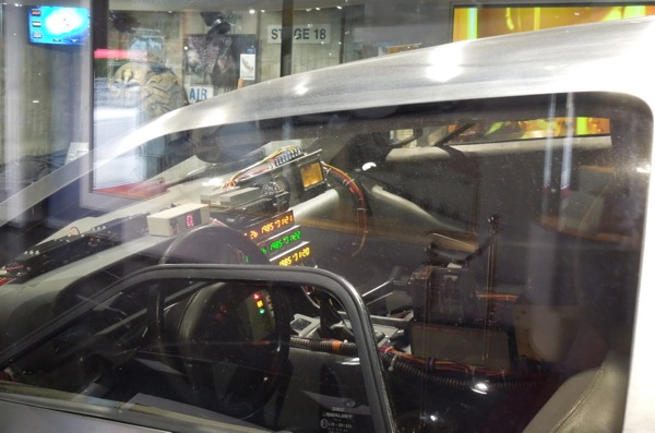 DeLorean Time Machine interior