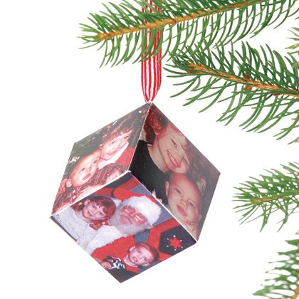 Cool Cube Card Ornament