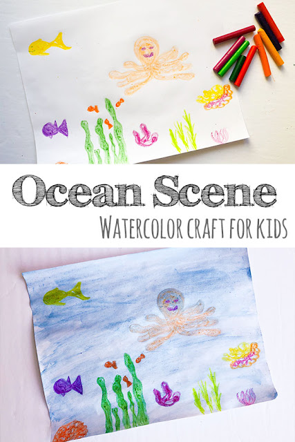 Watercolor-and-Crayons-Ocean-Craft
