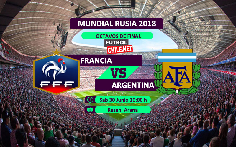 Argentina vs Francia por los octavos de final del Mundial Rusia 2018
