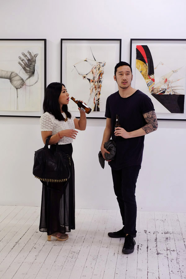Couple, tattoos, full sleeve, Black Tee & Jeans A Study of Hands Friday, China Heights Gallery  - Fujifilm X-Pro1