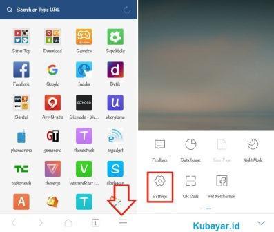 mengganti bahasa uc browser