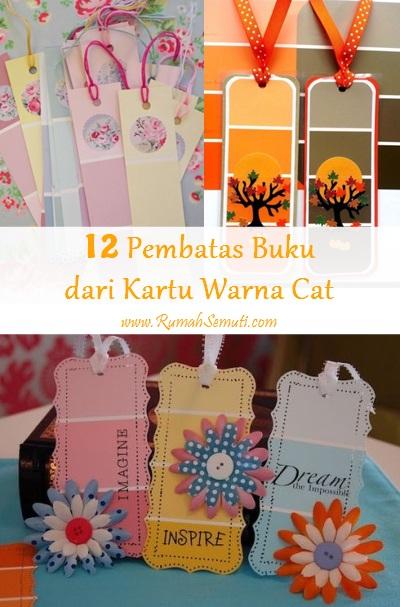 12 Pembatas Buku dari Kartu Warna Cat